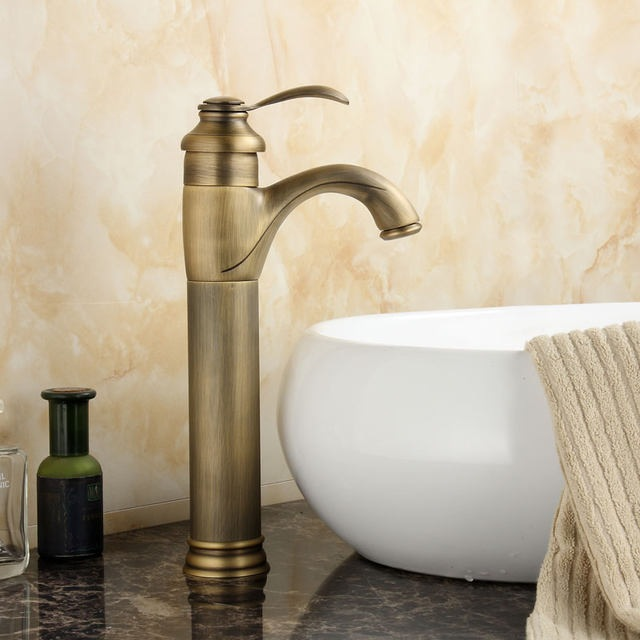 BECOLA Free shipping bathroom faucet antique bronze single handle basin tap brass faucet GZ-7202 free shipping bathroom basin faucet with single handle single hole antique brass oil rubbed bronze
