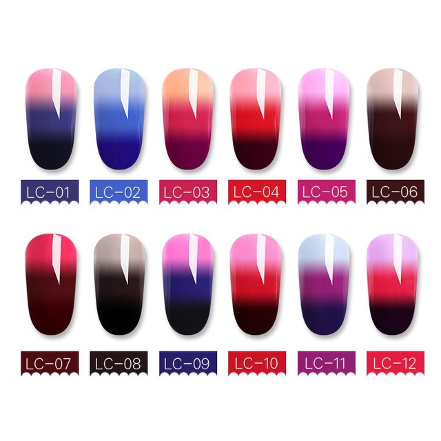 LILYCUTE 5ml Thermal UV Gel Polish 3-layers Temperature Color Changing