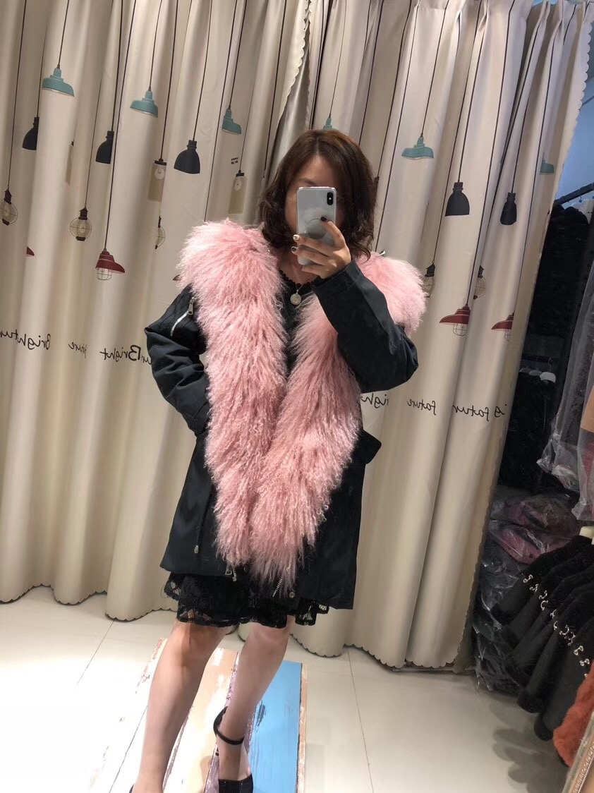 Parent-childs natural fur parkas with hood (30)