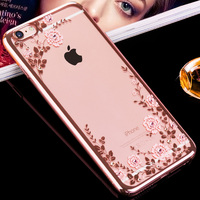 KAVARO For IPhone 6s 6 Plus Case Crystals From Swarovski Plated Hard Floral Case For IPhone