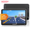 Xgody 5 Inch Car Gps Navigation Russia Navitel Gps Truck+Bluetooth Av-In Rear View Mirror Camera Europe North/South America Maps