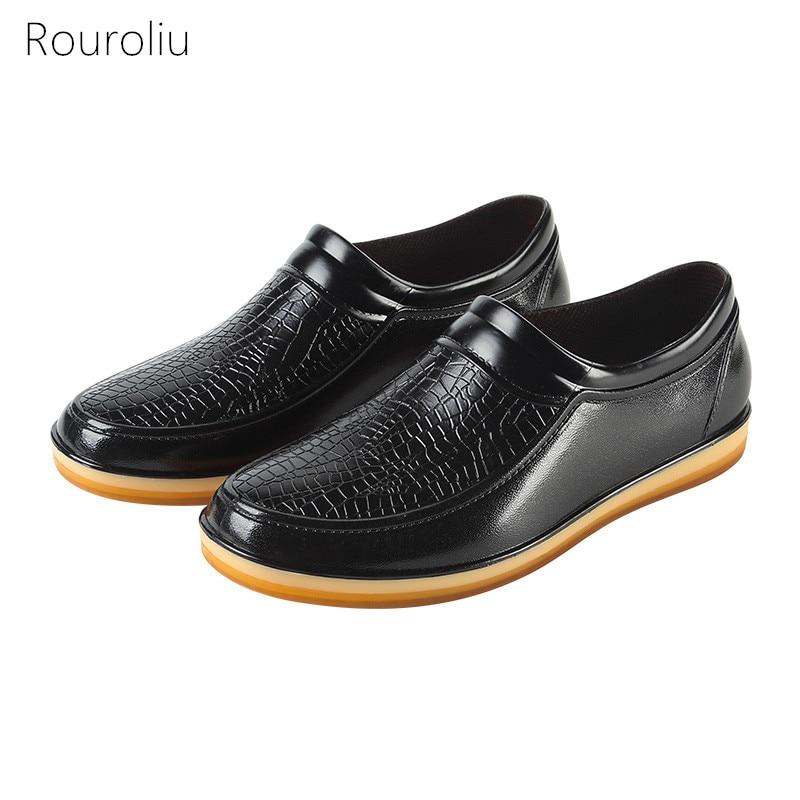 Kitchen Work Shoes: Aliexpress.com : Buy Rouroliu Fashion Imitation Leather