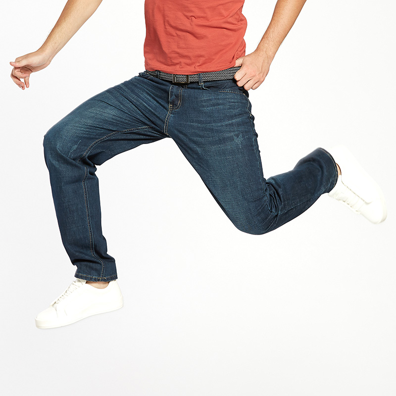 Drizzte Men Jeans Plus Ölçü 28-dən 46-dək Trendy Stretch Stretch - Kişi geyimi - Fotoqrafiya 5