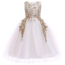 Платье для маленьких девочек с золотой нитью, с вышивкой, Детские платья для девочек, платье принцессы, элегантные вечерние платья для девоч...