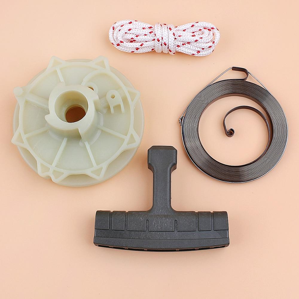 Recoil Starter Pulley Spring Kit For Partner 350 351 Poulan 3314 3416 3516 1900 1950 1975 2025 2050 Husqvarna 530037817 Chainsaw