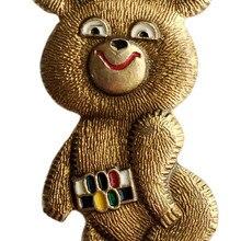 Верность 1980 советских Олимпийских игр в Москву талисман медведь Миха значки золото