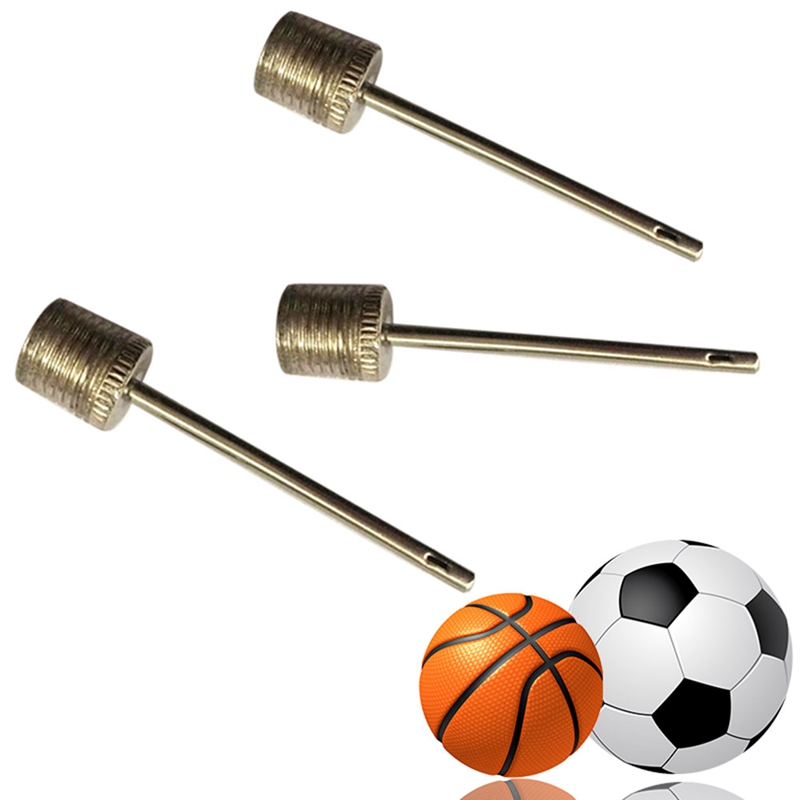 Lot Stainless Steel Needle Mini Inflator Accessory Air Valve Pump Up Basketball