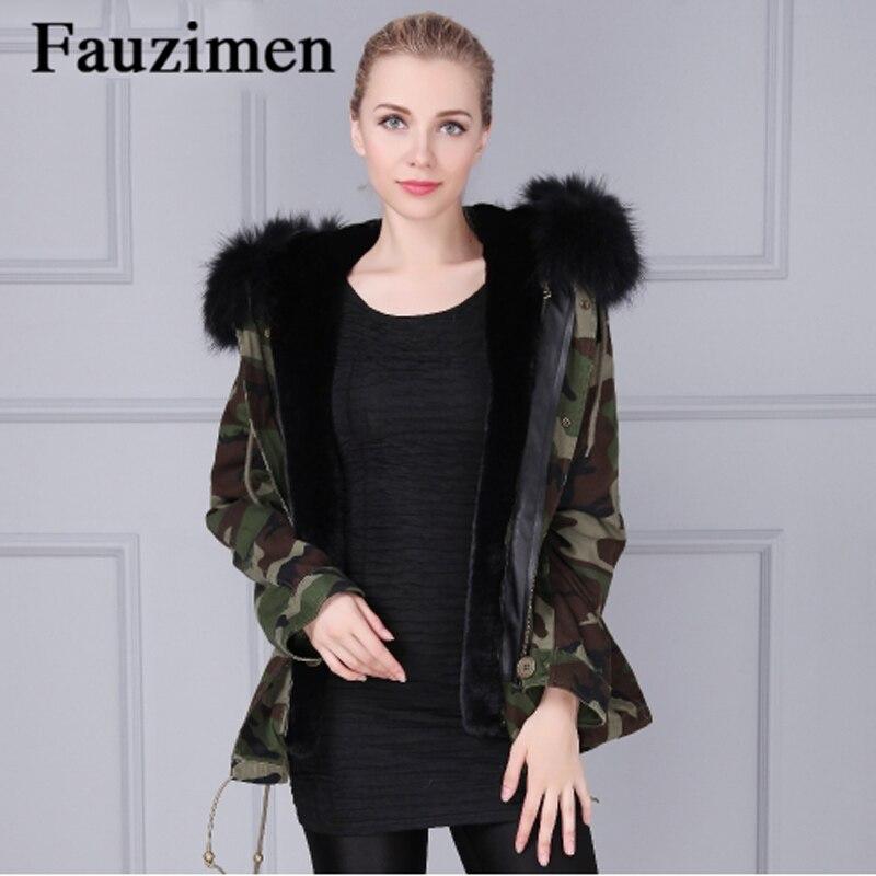 Con Faux Capucha Nuevas Mujeres Forro Fur Piel Chaqueta Mujer PaP4Fw