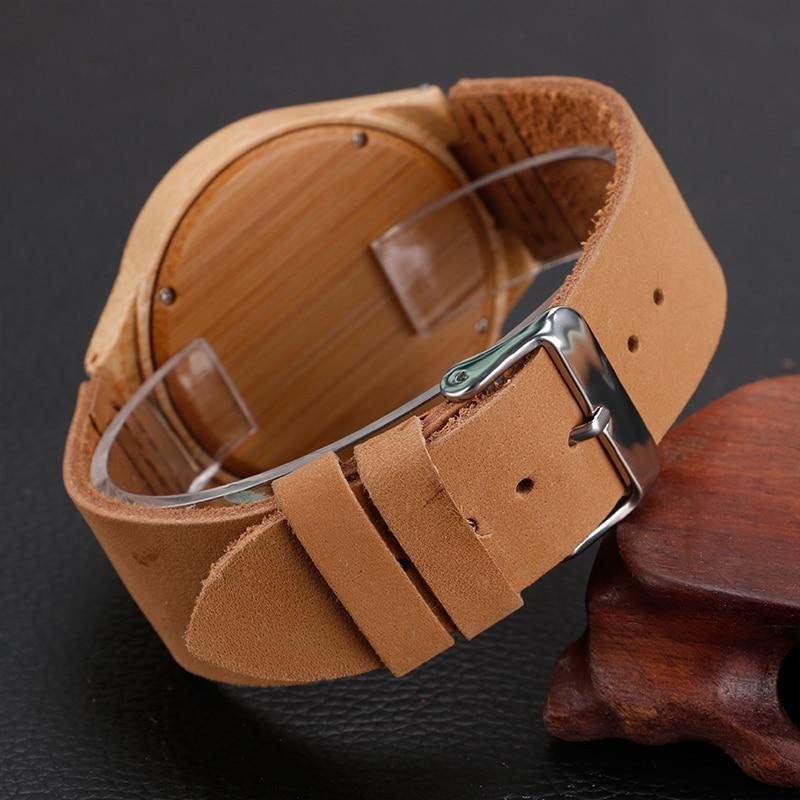 2017 Steampunk Nature Wood Watch Wzór głowy Tiger Zegarek z - Męskie zegarki - Zdjęcie 4