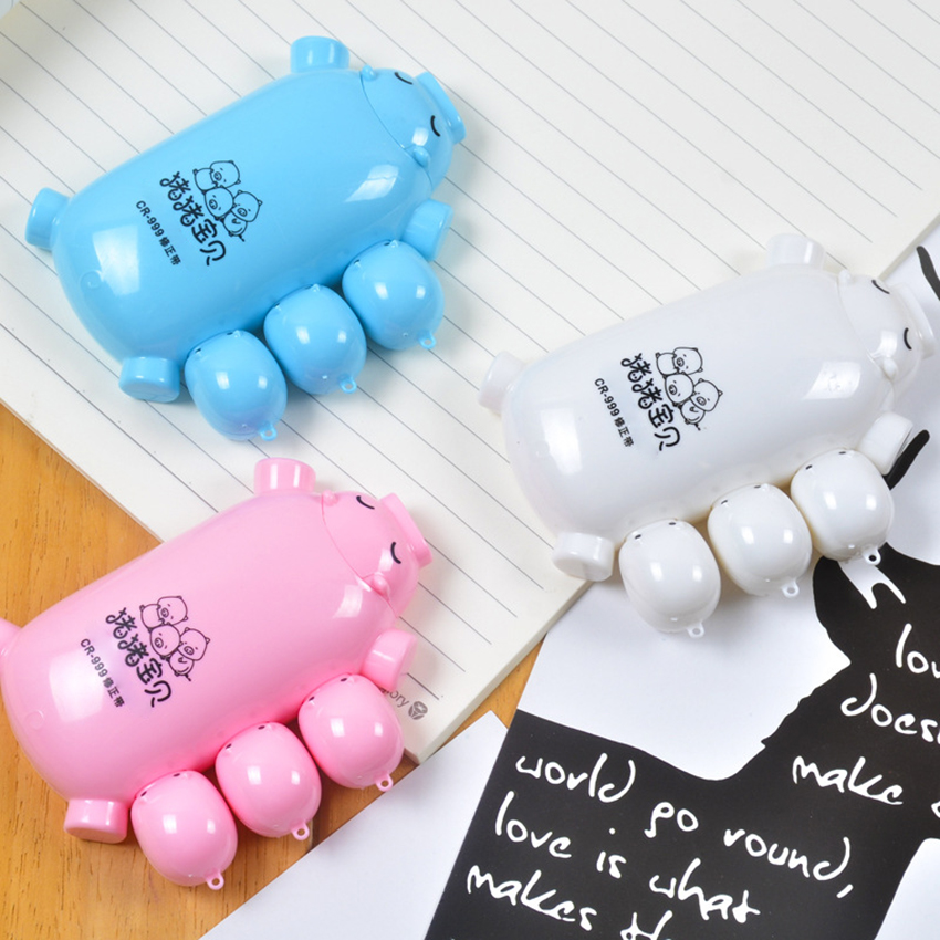 8m*5mm Novelty Cartoon Piggy Correction Tape School Supplies Kids Stationery Corrector Students Kawaii Correction Tape(China)