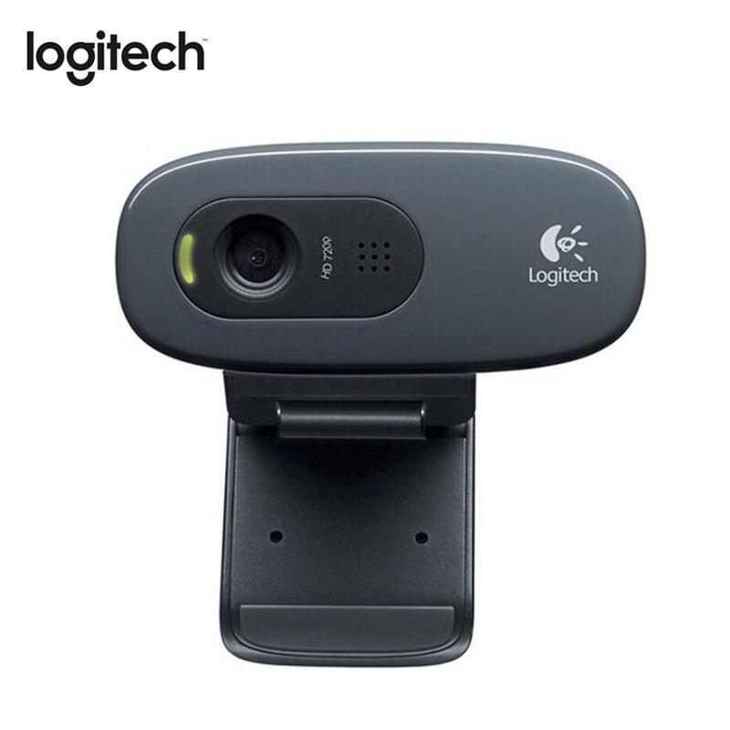 Logitech C270 HD USB 2.0 Webcam Livre em Disco Embutido Micphone 3MegaPixel Câmara Web Do Computador para A Educação a Distância do Curso Online