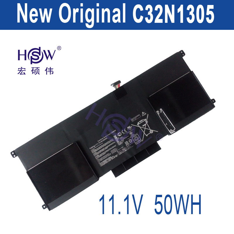 HSW New 50Wh  C32N1305 Battery for ASUS Zenbook Infinity UX301LA Ultrabook Laptop new laptop keyboard for asus g74 g74sx 04gn562ksp00 1 okno l81sp001 backlit sp spain us layout