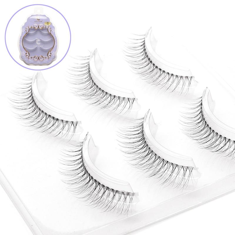 ICYCHEER 3 Pairs Cross Long Eyelashsn Thin Soft Natural Look False Eyelashes Makeup 3D Lashes Extension Eyelash