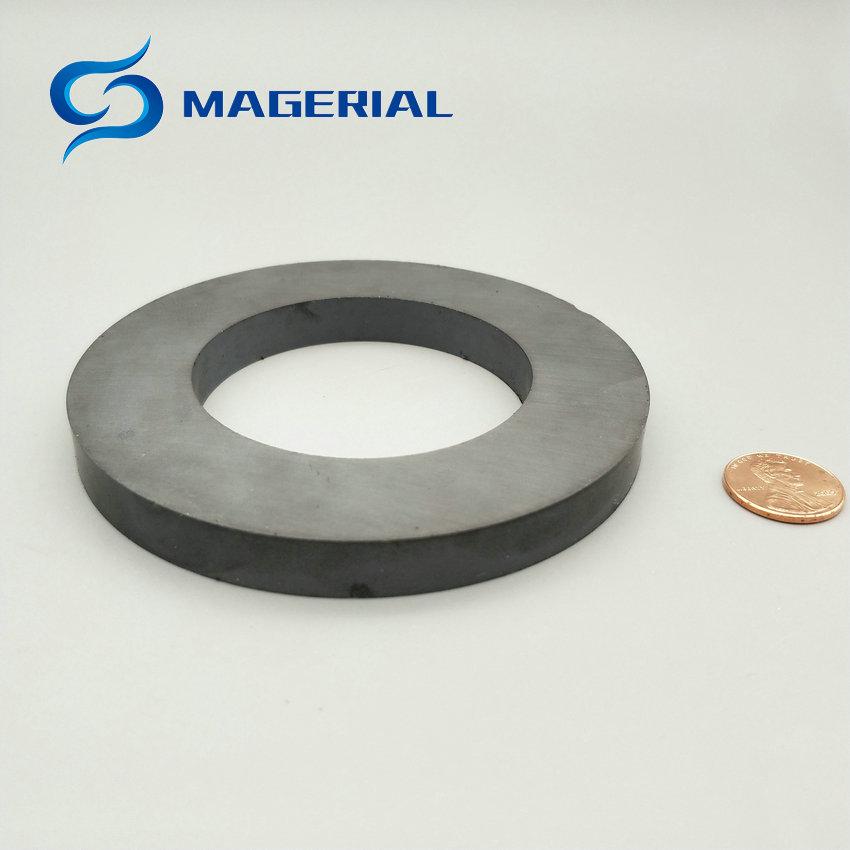 """Где купить 1 упаковка C8 керамическое кольцо с ферритовым магнитом OD 100x60x10 мм около 4 """"большой магнит для DIY громкоговорителя звуковая коробка доска сабвуфер"""