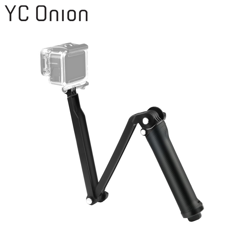 Multifunction Gopro Accessories Tripod 3 Way Monopod Mount Adjustable Extension Arm Tripod For Gopro Hero 7 6 5 4 3 SJcam Xiaomi