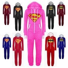 Adults Kigurumi Women and Men Superhero Spiderman Batman Superman Hooded Onesies Unisex Onesie Hoodie