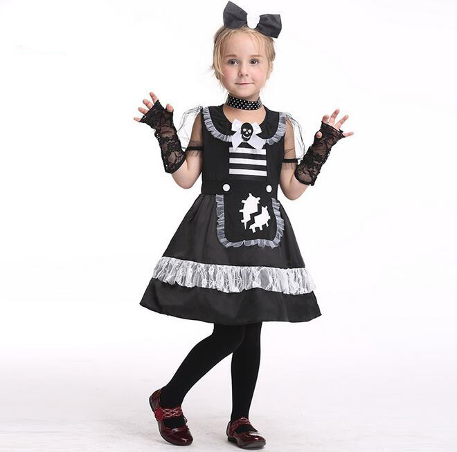 presell new style cute baby little girls maid cosplay costume naughty cat role play childers day halloween party dance dress - Naughty Girl Halloween Costumes