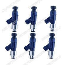 6pcs High Flow performance 550cc Fit for Nissan Skyline RB20DET RB26DET Fuel injectors Matched Freeshipping