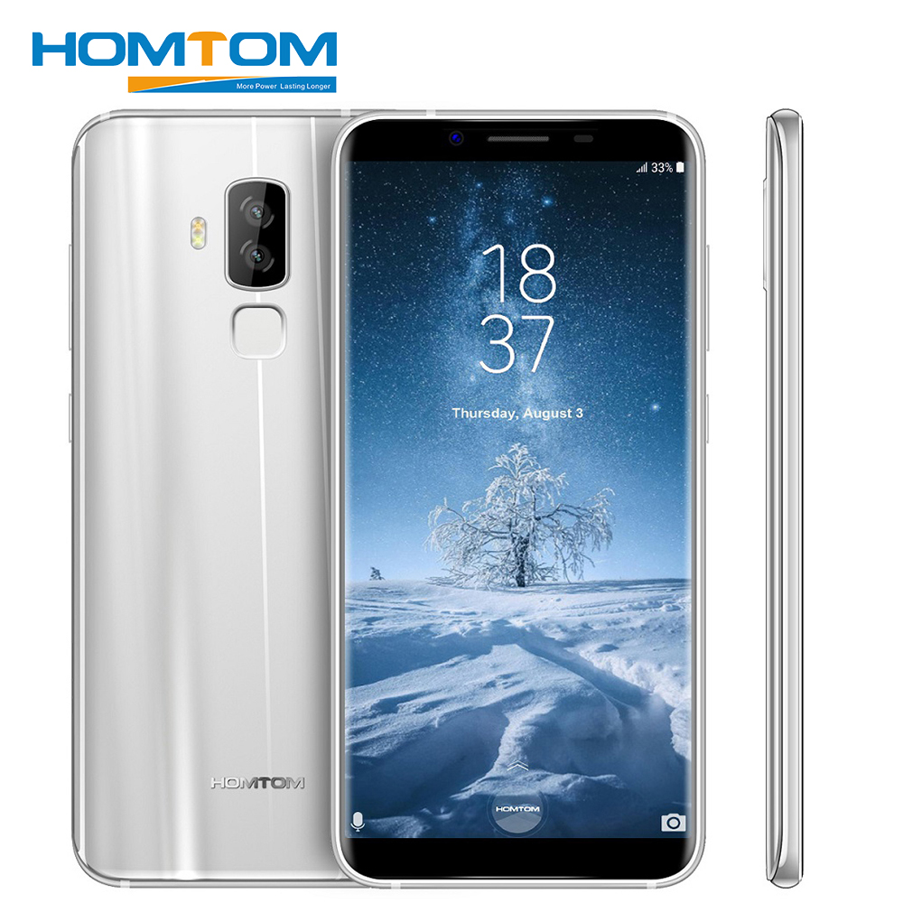 HOMTOM S8 5.7 pouce HD + 18:9 Aspect Ratio Mobile Téléphone MTK6750T Octa Core 4g RAM 64g ROM 3400 mah 16MP + 5MP D'empreintes Digitales Smartphone