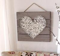 DIY Heart String Art Pallet Sign Home Decor Kit