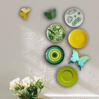 idyllic decorative Ceramic Plate hand painted wall plate TV background Decoration Display restaurant living room hanging plate