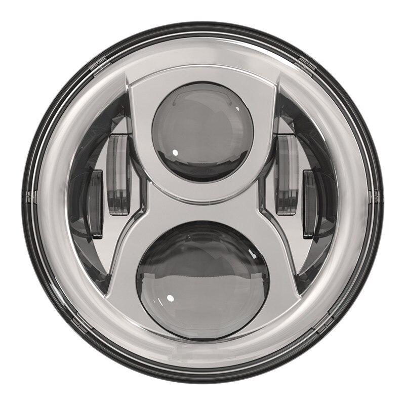 Lumineux 7 phare LED pour Wrangler TJ LJ JK H4 feux de croisement avant conduite phare style pour Land Rover harley motoLumineux 7 phare LED pour Wrangler TJ LJ JK H4 feux de croisement avant conduite phare style pour Land Rover harley moto