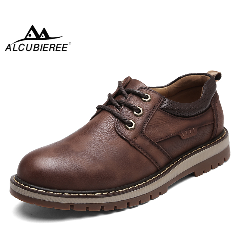 ALCUBIEREE Mens Comfortable Casual Tooling Boots Fashion British Martin Shoes Anti-Slip Wear-Resisting Work Shoe Size 38-44 zosuo men boots buckle desert british male boots leather martin boots tide retro tooling men s shoes zs337