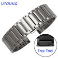 Quality Solid Stainless Steel Watchband 20mm For Samsung Gear S2 Luxury Matt Mens Black Strap Replacement Steel Watch bands