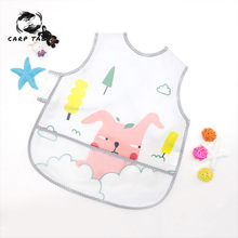 Newborn baby bib dinner clothes EVA disposable meal waterproof cartoon pattern feeding apron saliva headscarf