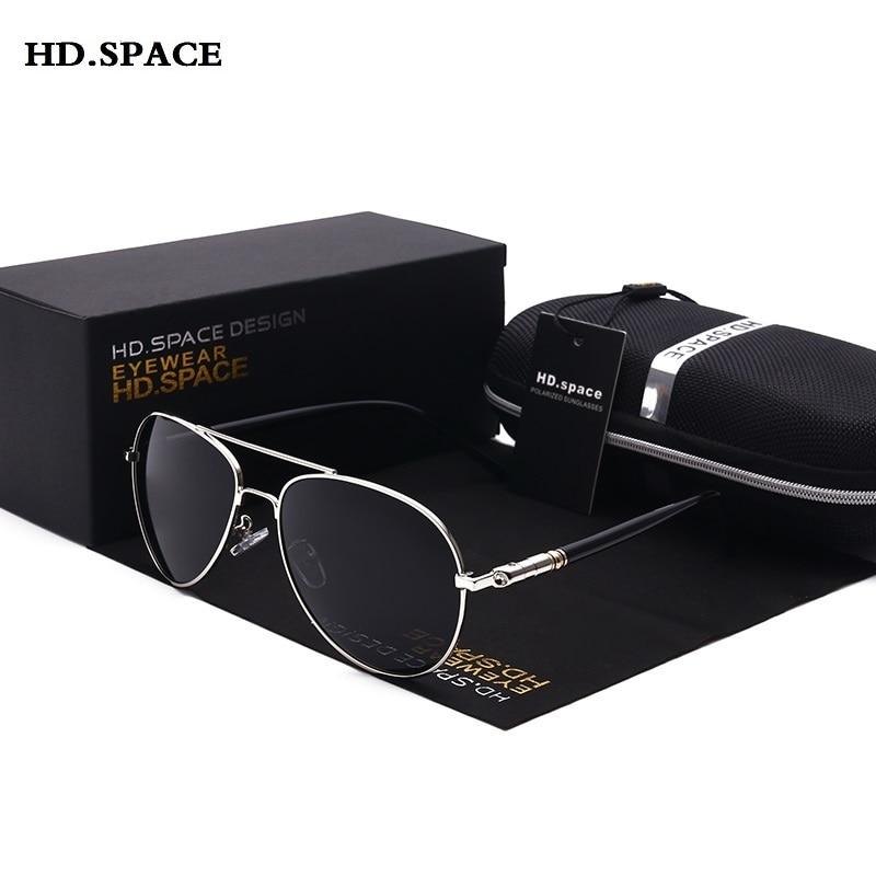 Polarized Sunglasses for Men Aviator Sunglasses Men for Driving Luxury Brand Coating mirror Sun Glasses male