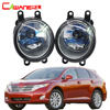 Cawanerl 2 Pieces 100W H11 Car Accessories Halogen Bulb Fog Light Daytime Running Lamp DRL 12V