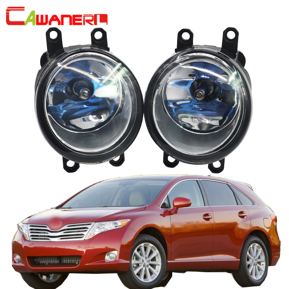 Cawanerl 2 Pieces 100W H11 Car Accessories Halogen Bulb Fog Light Daytime Running Lamp DRL 12V For 2009-2012 Toyota Venza cawanerl for toyota highlander 2008 2012 car styling left right fog light led drl daytime running lamp white 12v 2 pieces