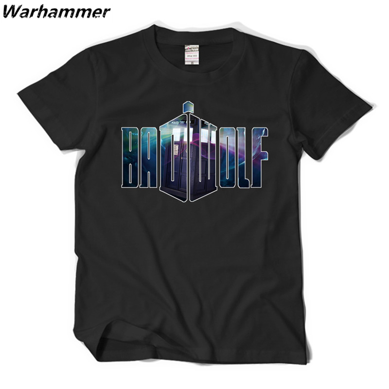 Warhammer BBC Doctor Who Mens Short Sleeved T Shirt Cotton 3D Print Pattern DRWHO Bad Wolf Cosplay Tee Shirt Homm Boyfriend Gift
