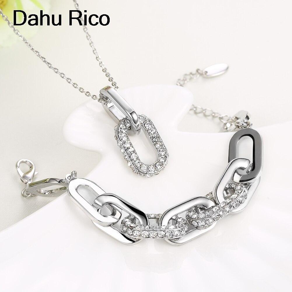 link set de taki seti blancos de piedras y cristales voor vrouwen de moda handmade liverpool friends vint Dahu Rico jewelry sets