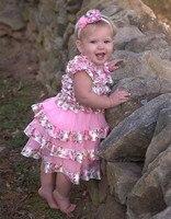 Bebé Pascua Vestidos niña rosa vestido de gasa floral niños Pascua outfit niños ropa Vestidos