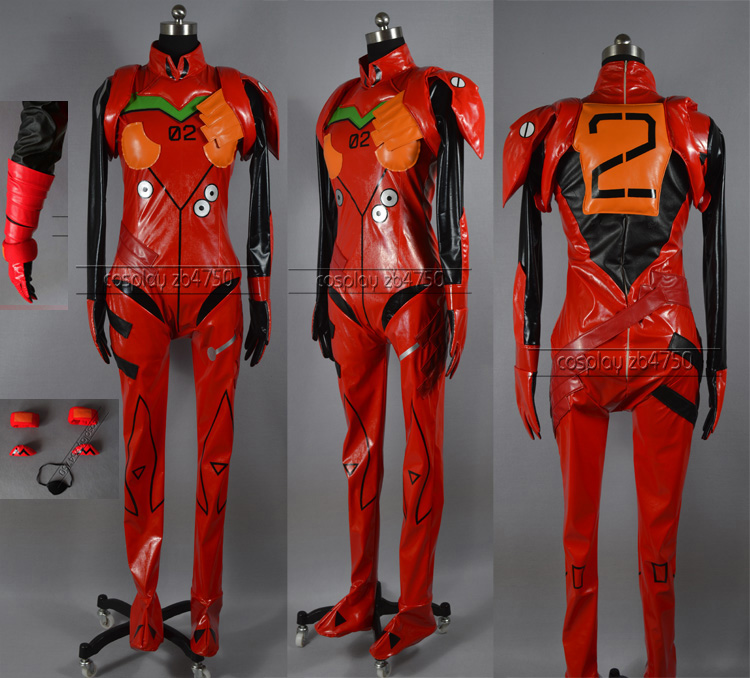Anime EVA Neon Genesis Evangelion Figure Soryu Asuka Cosplay Bodysuit Uniform Sexy PU suit Dress customize ANY SIZES 21cm japanese original anime figure neon genesis evangelion eva asuka langley soryu action figure collectible model toys