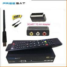 Freesat V8 Súper 5 unids adaptador wifi DVB-S2 Receptor de Satélite Soporte Youtube ccam PowerVu Biss Clave opcional Wifi v8 súper