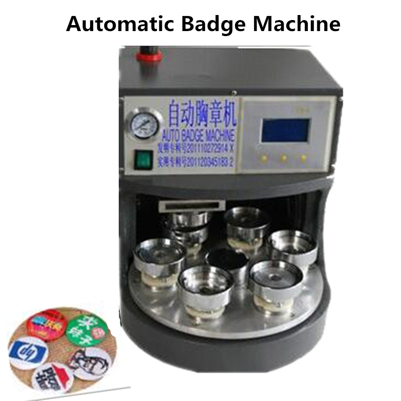Automatic Badge Machine with 7 molds Button Making Machinery Pressing Badge Maker 56mm metal badge press machine button maker