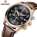 Top Relógios Homens LONGBO Marca de Luxo Designer de Moda em Couro De Quartzo-Relógio Dos Homens À Prova D' Água Esporte relógio de Pulso Masculino Relogio masculino