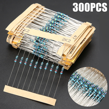 New 300pcs 1/4W 1Ω-1MΩ For LED And Semiconductor Circuits Resistance Assortment Kit 30 Values Metal Film Resistors цены