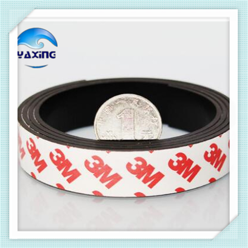 Free Shipping 1M Magnetic Stripe 20*1.5MM Rubber Magnets Flexible Magnet DIY Craft Tape For School Home craft flexible magnetic sheet tape 620mm width 0 5mm thickness magnets roll 1m roll magnetic car sign diy 930g meter