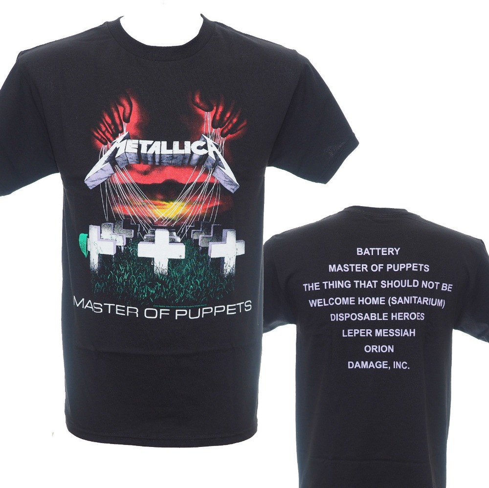 T shirt design hip hop - 2016 New Arrival Rock Metallica Heavy Metal Rock Print T Shirt Usa Adult Camiseta Brand Clothing