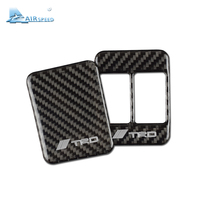 CARBON FIBER Car Interior Refit Seat Heating Button Decorative Frame TRD STI Modification Trim For Subaru