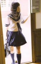 Fashion Sailor suit school uniform student sailor navy set