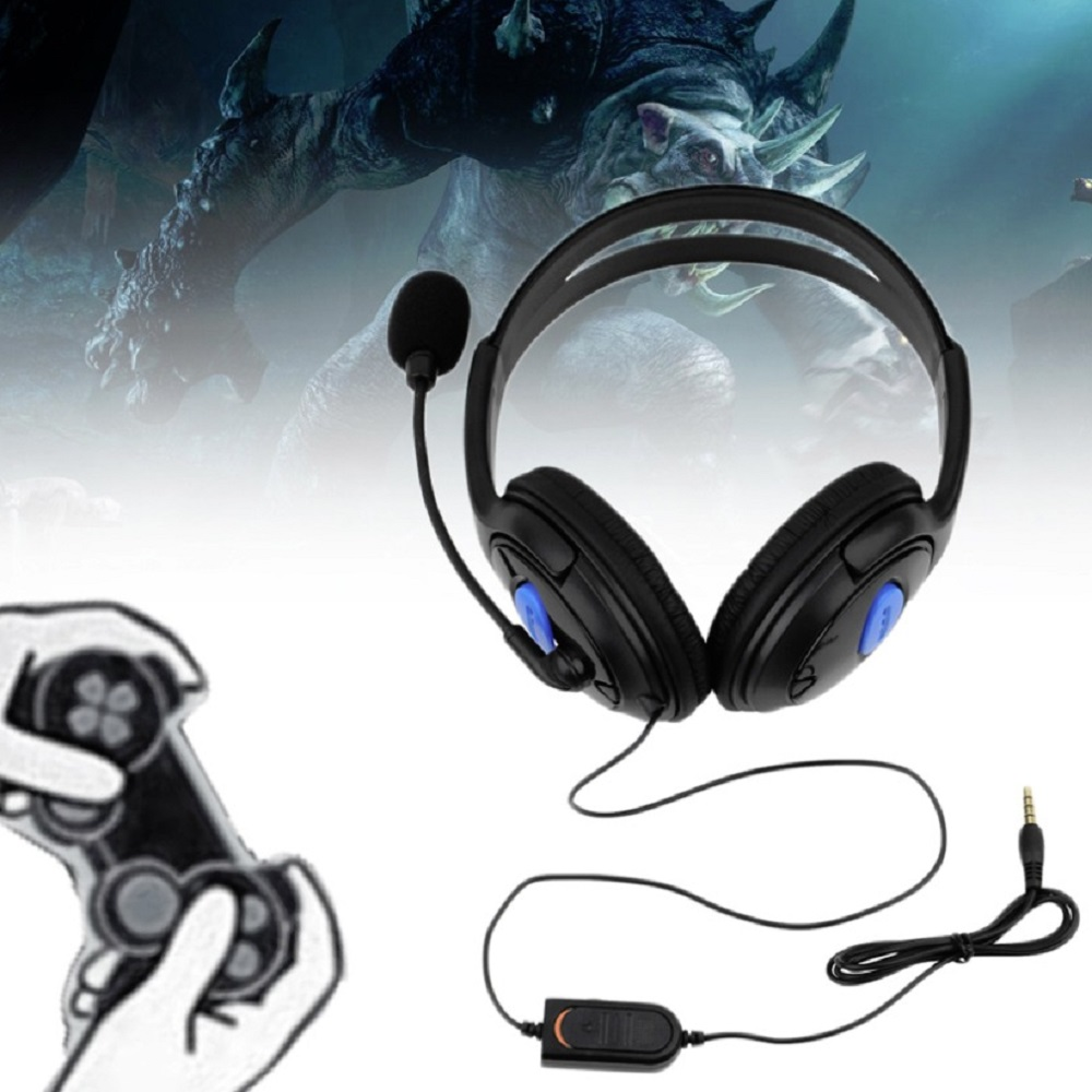 Wired Gaming Headset Earphones Headphones with Microphone Mic Stereo Supper Bass for Sony PS4 for PlayStation 4 Gamers Wholesale earphones headset earphones laptop bass earphones headset belt microphone
