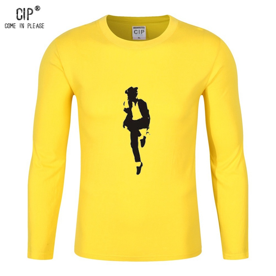 Cip brand clothes michael jackson tee long sleeve pure cotton children shirts boys mj dancing t shirts boys t shirt kids cl129-0