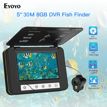"""EYOYO """" монитор 15/возможностью погружения на глубину до 30 м Рыболокаторы Камера HD 1000TVL подводная лед рыбалка видео Камера DVR fischfinder-гидравлические подводная видео Камера"""