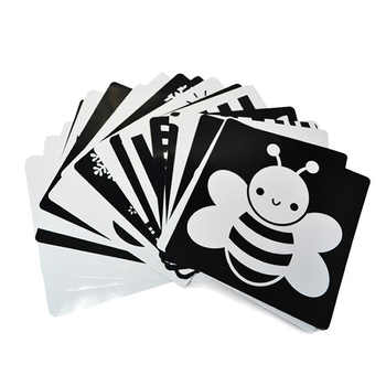 21x21 cm Black and white card for Preschool educational baby Visual training card animal cards free shipping - DISCOUNT ITEM  47 OFF Education & Office Supplies