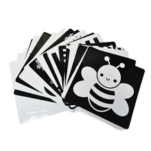 21x21 سم بطاقة أبيض وأسود لمرحلة ما قبل المدرسة التعليمية الطفل بطاقة التدريب البصري بطاقات الحيوان شحن مجاني