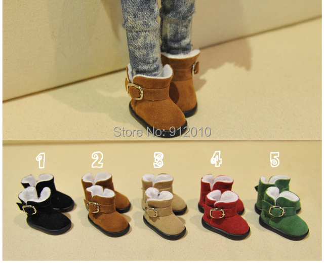 Warm Suede Snow Boots 5colors  for BJD 1/6 YOSD 1/4 MSD Luts DOD AS DZ Doll Shoes SB8